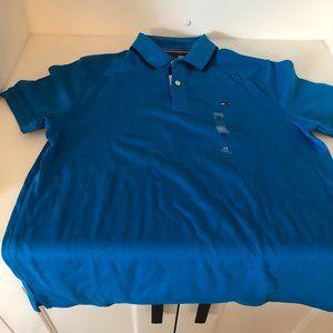 NWOT Tommy Hilfiger Men's Blue Polo, Size M
